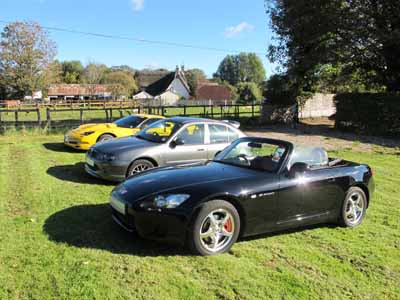 An eclectic mix of cars (and owners!) take part in Helluvit sports car club road runs!