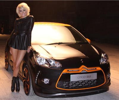 Pixie Lott and Citroen DS3 Racing make a beautiful couple