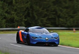 Do you detect hints of the Lotus Exige in the styling of this Alpine concept?